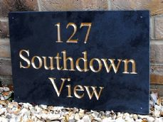 Solid slate house sign – 450mm x 300mm; 17.7 inches x 11.8 inches